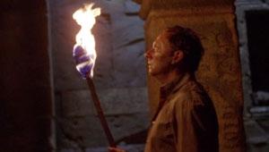 Benjamin Linus faces the smoke monster.