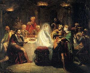 Théodore Chassériau (1819–1856), Macbeth seein...
