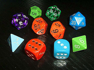 Dice for various role-playing games