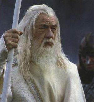 Ian McKellen as Gandalf the White in Peter Jac...