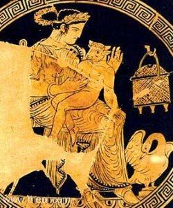 Pasiphae and the Minotaur (4th century BC)