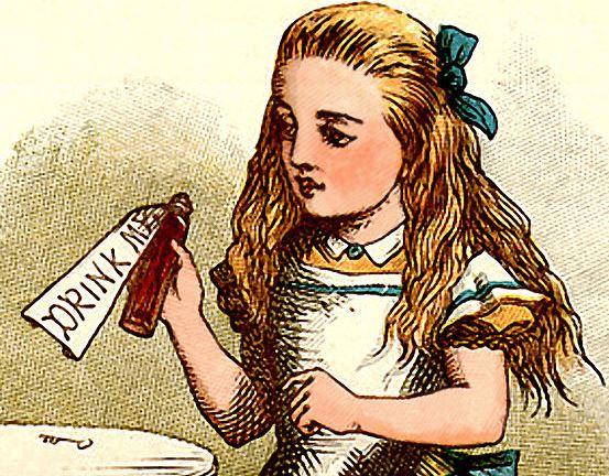 Alice drink me