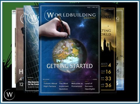 Worldbuilding Monthly Covers